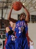 Jogo de basquetebol das meninas da High School Fotos de Stock Royalty Free