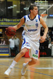 Jogo de basquetebol de Kaposvar - de Paks Foto de Stock Royalty Free