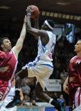 Jogo de basquetebol de Kaposvar - de Salgotarjan imagens de stock