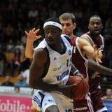 Jogo de basquetebol de Kaposvar - de Salgotarjan imagem de stock royalty free