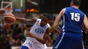 Jogo de basquetebol de Kaposvar - de Sopron Fotografia de Stock Royalty Free