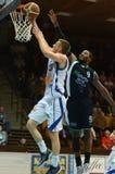 Jogo de basquetebol de Kaposvar - de Szeged Fotografia de Stock Royalty Free