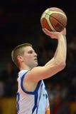 Jogo de basquetebol de Kaposvar - de Szeged Foto de Stock