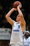 Jogo de basquetebol de Kaposvar - de Szolnok Foto de Stock Royalty Free