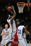 Jogo de basquetebol de Kaposvar - de Szolnok Imagem de Stock Royalty Free