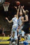 Jogo de basquetebol de Kaposvar - de Szombathely Foto de Stock Royalty Free