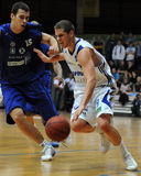 Jogo de basquetebol de Kaposvar - de Zalaegerszeg foto de stock