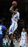 Jogo de basquetebol de Kaposvar - de Zalaegerszeg fotos de stock