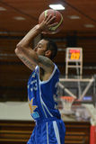 Jogo de basquetebol de Kaposvar - de Zalaegerszeg imagens de stock royalty free