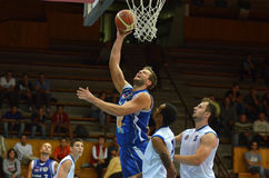 Jogo de basquetebol de Kaposvar - de Zalaegerszeg imagem de stock