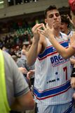 Jogo de basquetebol entre Bríxia e Verona Foto de Stock Royalty Free