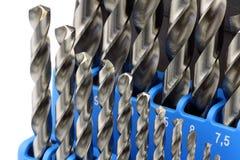 Jogo de bits de broca aço temperado do metal fotografia de stock