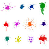 Jogo de borrões coloridos Imagem de Stock