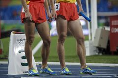 Jogo 2016 de Brasil - de Rio De janeiro - de Paralympic atletismo de 400 medidores Foto de Stock Royalty Free
