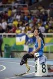 Jogo 2016 de Brasil - de Rio De janeiro - de Paralympic atletismo de 400 medidores Fotos de Stock