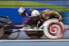 Jogo 2016 de Brasil - de Rio De janeiro - de Paralympic atletismo de 1500 medidores Foto de Stock