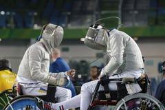 Jogo 2016 de Brasil - de Rio De janeiro - de Paralympic que cerca Fotografia de Stock