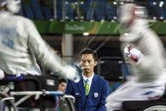 Jogo 2016 de Brasil - de Rio De janeiro - de Paralympic que cerca Imagens de Stock