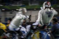 Jogo 2016 de Brasil - de Rio De janeiro - de Paralympic que cerca Foto de Stock