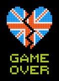 Jogo de Brexit sobre a mensagem, quebra BRITÂNICA do coração Imagens de Stock Royalty Free