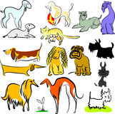 Jogo de cães e de mais de brinquedo Ilustração Royalty Free