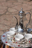 Jogo de café bosniano fotografia de stock