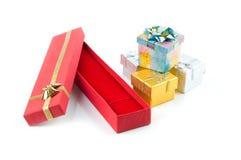 Jogo de caixas de presente Imagem de Stock Royalty Free