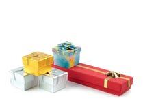 Jogo de caixas de presente Foto de Stock Royalty Free