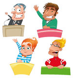 Jogo de caráteres diferentes: Fotografia de Stock