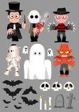 Jogo de caracteres 2 de Halloween Imagens de Stock Royalty Free