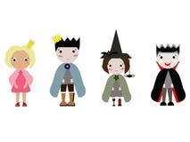 Jogo de caracteres de Dia das Bruxas Foto de Stock