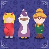 Jogo de caracteres de Dia das Bruxas do traje do monstro Fotografia de Stock Royalty Free