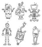 Jogo de caracteres do robô ilustração stock