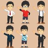 Jogo de caracteres do trabalhador de escritório Foto de Stock Royalty Free