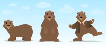 Jogo de caracteres do urso Fotografia de Stock Royalty Free