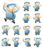 Jogo de caracteres quatro Imagem de Stock