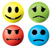 Jogo de caracteres, sorrisos. ilustração do vetor