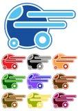Jogo de carros dos desenhos animados da cor Imagens de Stock