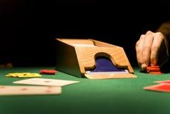 Jogo de cartão Fotografia de Stock Royalty Free