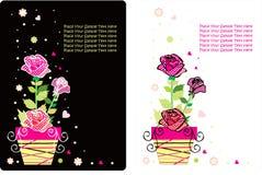 Jogo de cartão da flor Foto de Stock