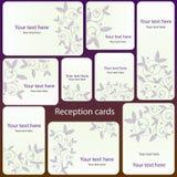 Jogo de cartão da recepção Foto de Stock Royalty Free