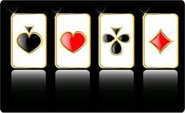 Jogo de cartão do jogo do vetor Fotos de Stock Royalty Free