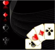 Jogo de cartão do jogo do vetor Imagens de Stock Royalty Free
