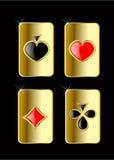 Jogo de cartão do jogo do vetor Foto de Stock Royalty Free