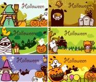 Jogo de cartão do presente de feriado de Halloween ilustração do vetor