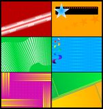 Jogo de cartões coloridos Imagem de Stock