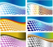 Jogo de cartões coloridos Imagens de Stock