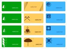 Jogo de cartões coloridos Imagem de Stock Royalty Free