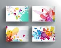 Jogo de cartões coloridos abstratos Imagem de Stock