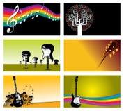 Jogo de cartões da indústria musical Fotografia de Stock Royalty Free